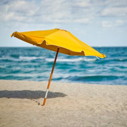 Beach Umbrella Yellow